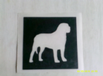 10 - 100 x Rottweiler dog stencils for etching on glass